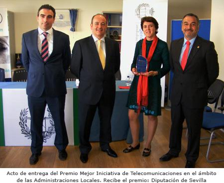 Premio a la Mejor Iniciativa de Telecomunicaciones en las AALL 2010