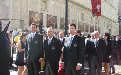 Una representación del Colegio en la festividad del Corpus Christi de Sevlla 2014
