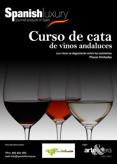 Curso de cata de vinos andaluces