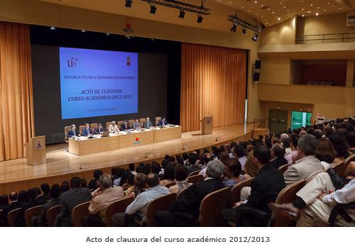 Acto de clausura académica 2012/2013