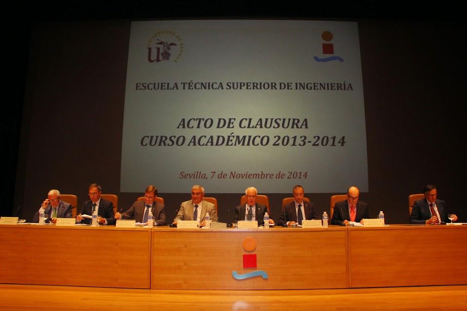 Acto de Clausura Curso Académico 2013-2014 ETSI