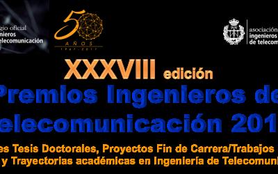 Participa en la XXXVIII edición Premios Ingenieros de Telecomunicación 2017