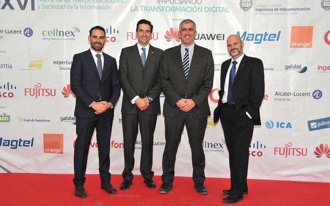Los telecos andaluces apuestan por la Transformación Digital en la XVI Noche de las Telecomunicaciones y SI