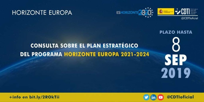 La Comisión Europea lanza una consulta sobre el Plan Estratégico del programa Horizonte Europa 2021-2024