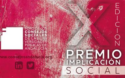 Convocada la X edición del Premio Implicación Social en las Universidades Públicas de Andalucía
