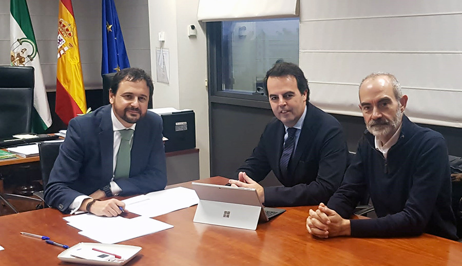 Reunión de trabajo con la Junta de Andalucía sobre proyectos formativos en Tecnología