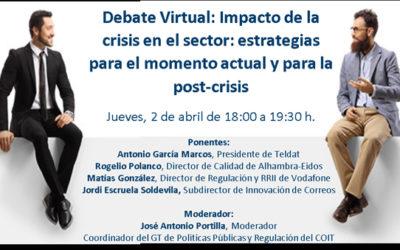 Debate Virtual sobre el impacto de la crisis en el sector de las Telecomunicaciones