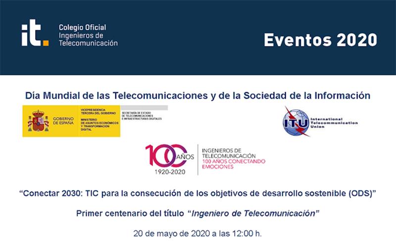 Un evento virtual para celebrar el Día Mundial de las Telecomunicaciones y SI y el título de Ingeniero de Telecomunicación