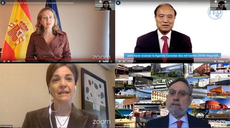 Representantes institucionales y expertos reunidos para celebrar el Día Mundial de las Telecomunicaciones y SI y el centenario de la profesión