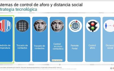El sector de las Telecomunicaciones conoce soluciones para el control de aforos y distanciamiento social en el marco profesional