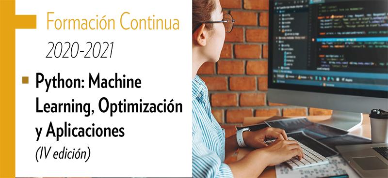 Curso de Formación Continúa 'Python: Machine LEarning, optimización y aplicaciones'