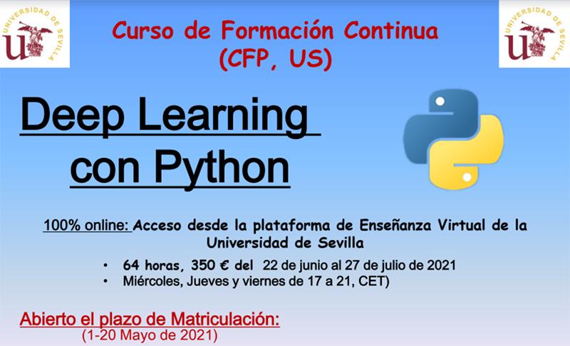 Formación sobre Python y Deep Learning de la mano de la Universidad de Sevilla