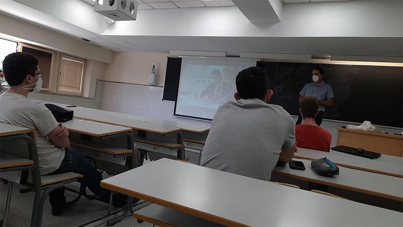 'Master Class' de orientación laboral a alumnos de Máster de Ingeniría de Telecomunicación