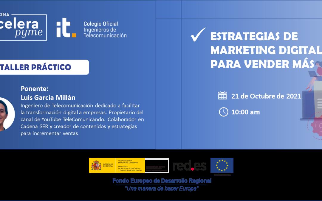 El Marketing Digital será protagonista de la segunda jornada formativa de la oficina #AceleraPymeCOIT